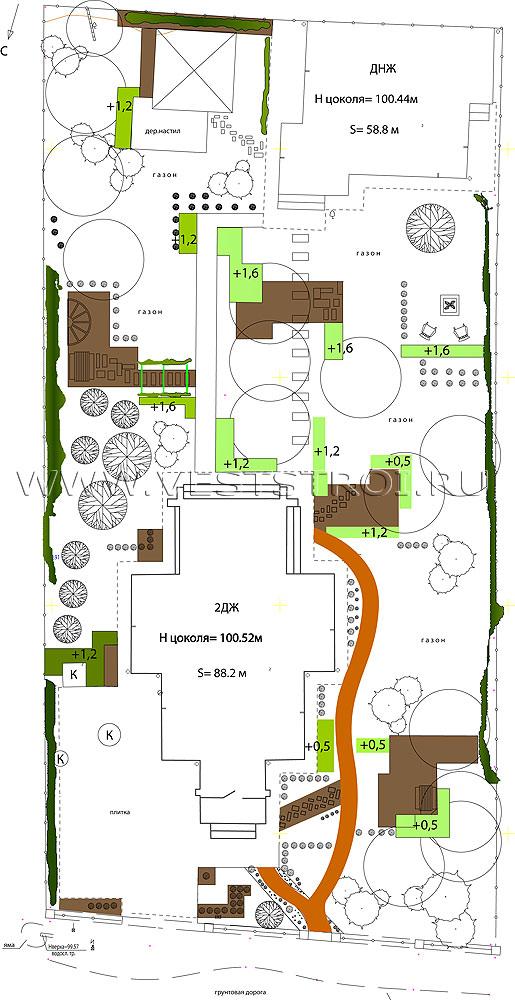 Ландшафтный проект - схема